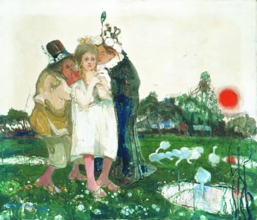 Witold Wojtkiewicz - Idyll - Matrimonial Agents, from the cycle Ceremonies 4 - malarze.com -- Malarze Polish Art Gallery - Polish Art of Painting and Painters - pl: Malarze Polscy i Sztuka Polska