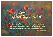 Liebe Geburtstagswünsche! Die Sonne scheint für Dich - deinetwegen; und wenn sie müde wird, beginnt - Brunnen Verlag GmbH