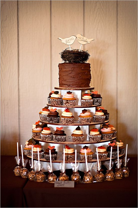 Unique Fall Wedding Theme Ideas : Just adorable fall themed wedding cake ideas