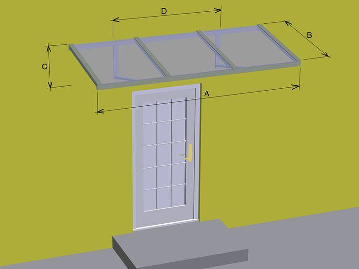 Pultová stříška se třemi skly