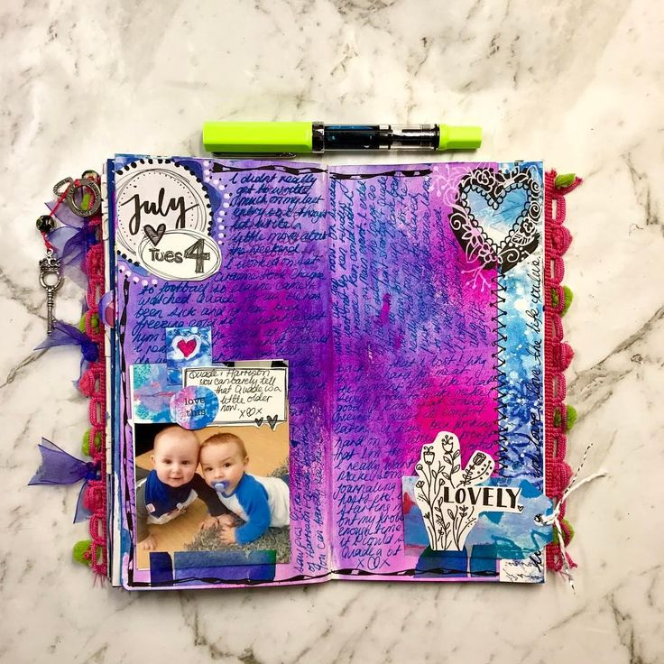 1 Likes, 1 Comments - Mez (@lifeofmezz) on Instagram, Journal page in my travelers notebook using some collage elements .