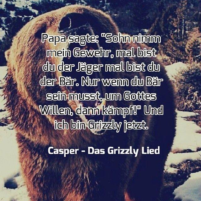 Eines der besten Lieder von ihm. #casper #grizzlylied #grizzly #bear #deutschrap #rap #good #song #american #life #german #zitat #hinterland #xoxo #gutes #album