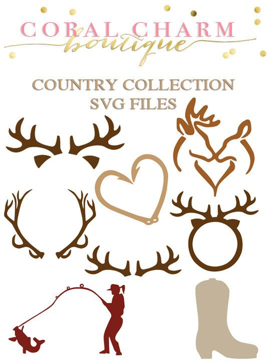 This is for a zipped folder containing 2 SVG files which includes all of the country collection designs. Once purchased you will be able to