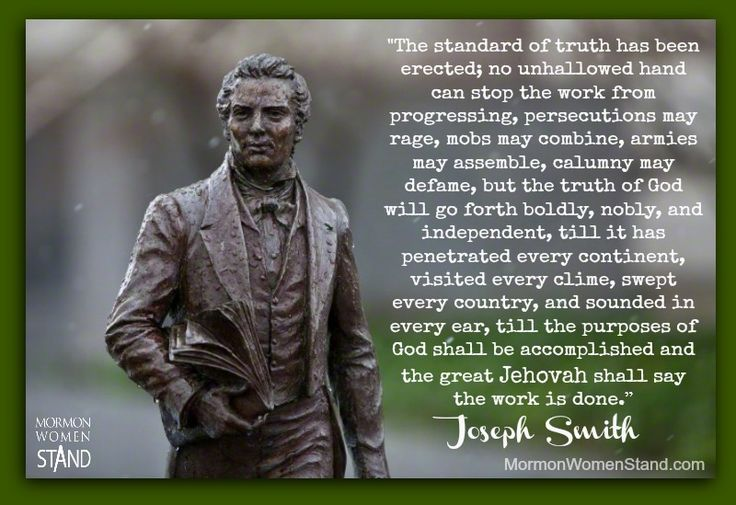 The Standard of Truth, by Joseph Smith #MormonWomenStand # ...