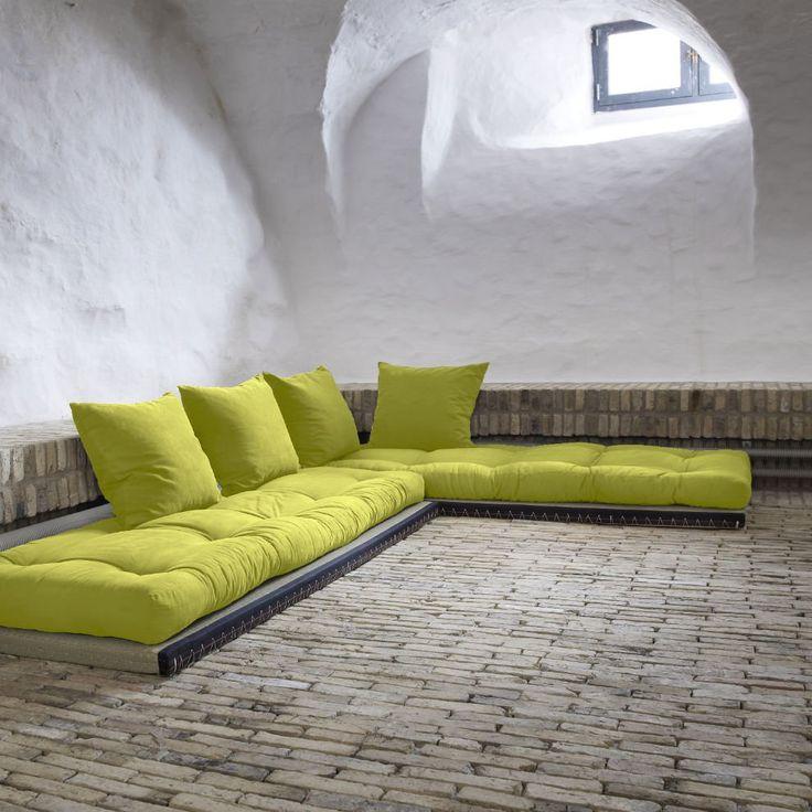 Divano letto chico sofa karup con tatami e futon industrial design - Matelas futon banquette ...