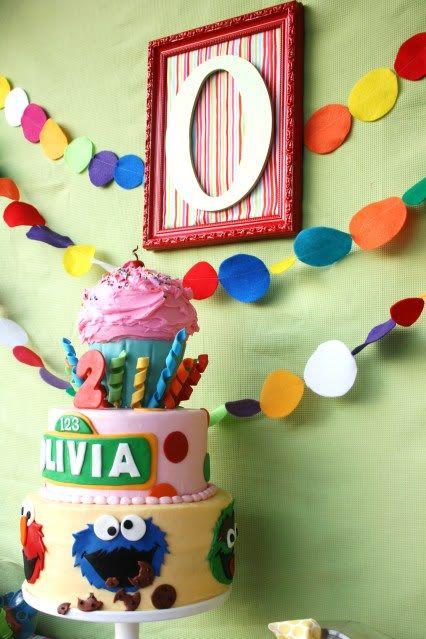 elmo: Cookies Monsters, Sesame Street Parties, Birthday Parties, Elmo Birthday, Sesame Streets, Parties Ideas, Sesame Street Cake, 2Nd Birthday, Birthday Cakes