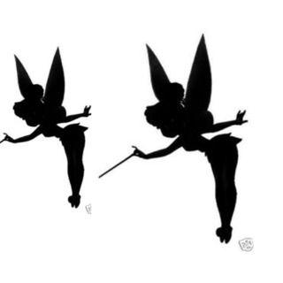 Tinker bell silhouette voor op je pompoen!