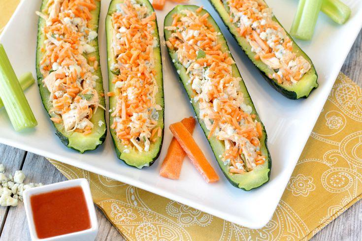 zucchini buff chicken boats