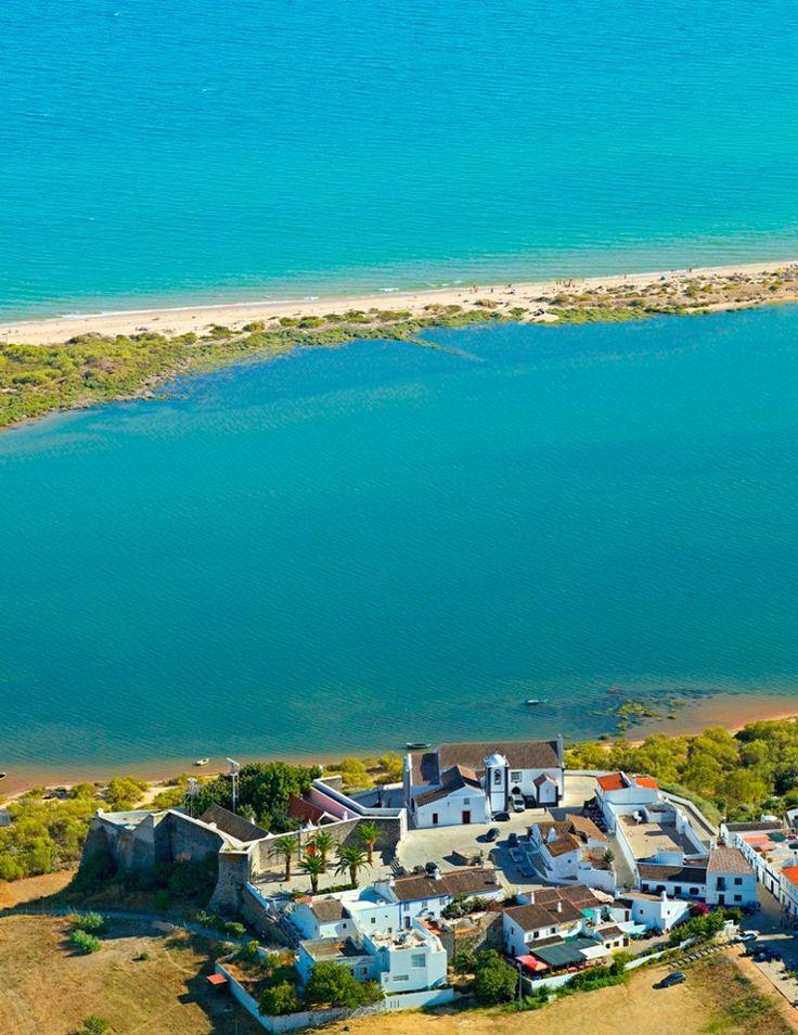Cacela Velha overlooking the Ria Formosa Natural Park, Algarve, Portugal