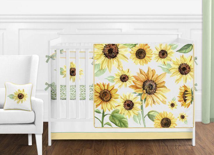 Baby Girl Crib Bedding, Sunflower Crib Bedding