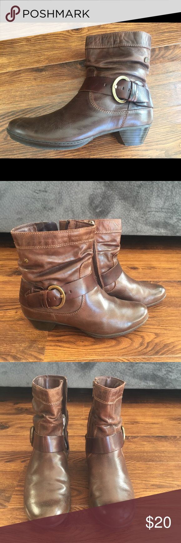 Pikolinos Brown Leather Ankle Boots Brown leather boots size 38 PIKOLINOS Shoes Ankle Boots & Booties
