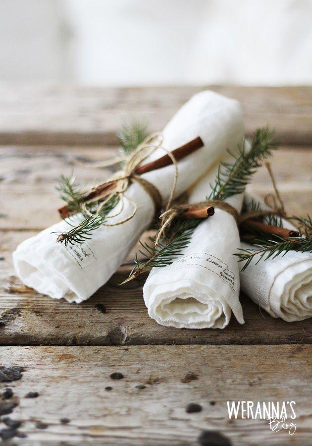 WERANNA'S: Christmas table setting - joulukattaus