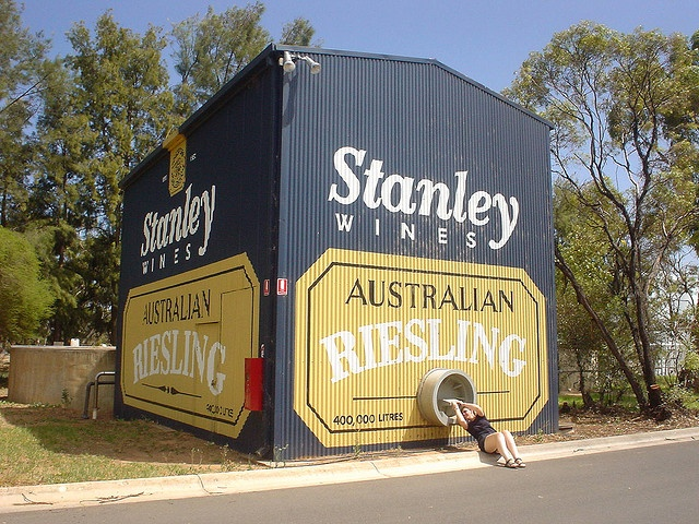 HOW DID I NOT FIND THIS?! The Big Wine Cask, Burronga, NSW, Australia.