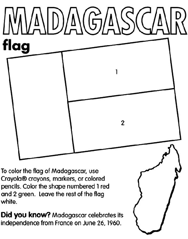 flag coloring pages africa - photo#33
