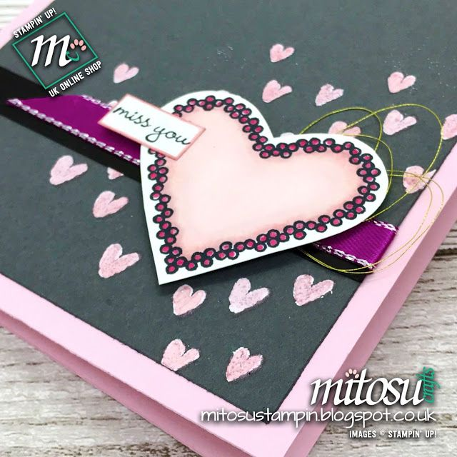 Stampin' Up! Heart Happiness from Mitosu Crafts UK for #PCC276 Colour Challenge