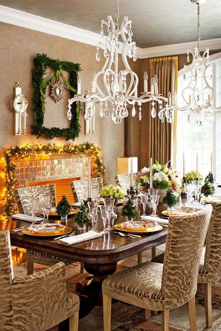 Xmas Table Decoration Dining Room