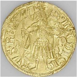 Hungary. Matthias Corvinus gold Gulden (1458-90), Friedberg 20, Matthias Corvinus gold Gulden (1458-