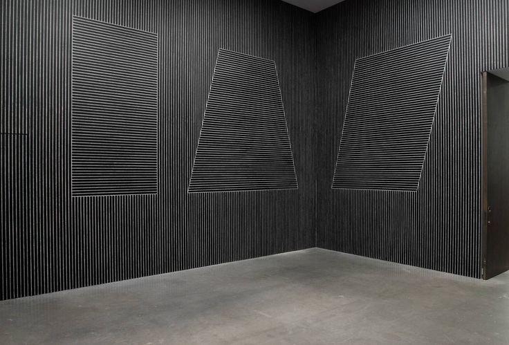 Vertical Line Definition In Art : Sol lewitt t on four black walls white vertical