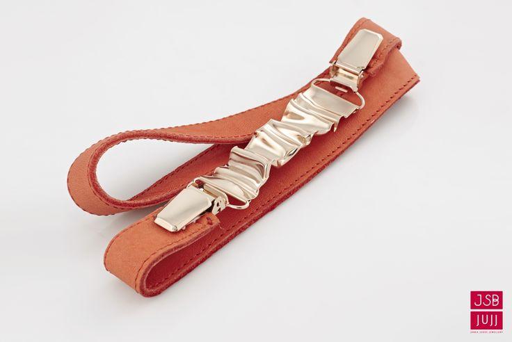Crinkled Cip Belt, jesuisbelle jujj jewellery
