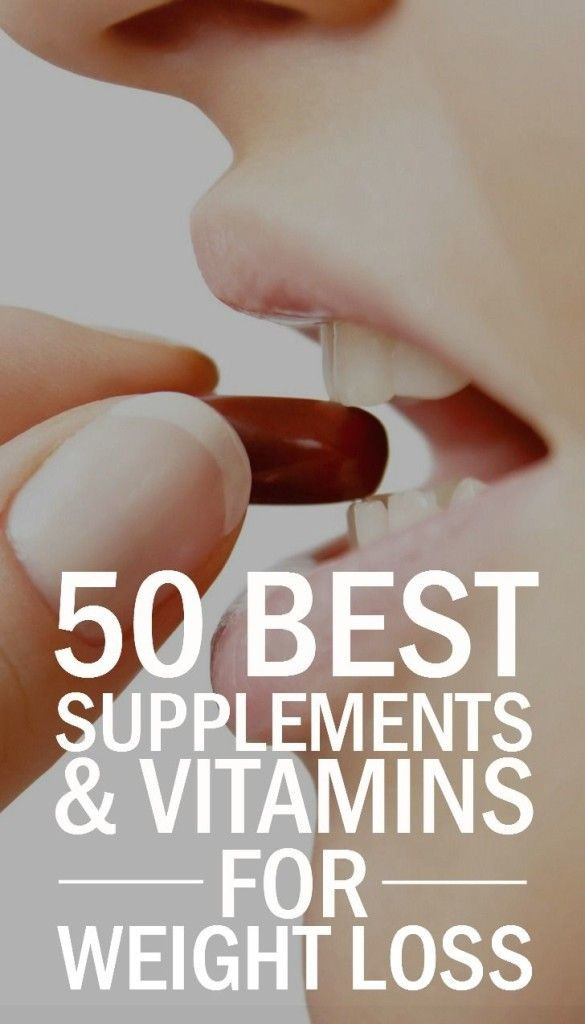 50 Vitamin and Supplements for Weight Loss