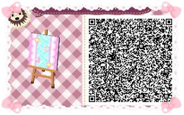 Animal Crossing: New Leaf & HHD QR Code Paths #1 Star crossed Pastel  waterway