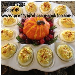 Deviled Eggs Thanksgiving Recipe  It is just not Thanksgving without Gramma's Deviled Eggs!  Serve them before the feast to get their mouth's watered!  #eggs #thanksgiving