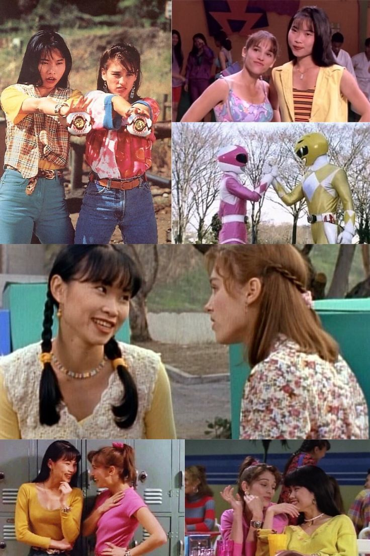 Trini and Kimberly- Yellow and Pink Power Rangers