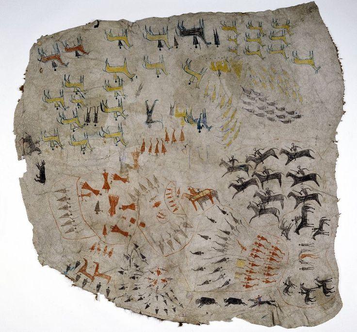 Robe of Running Rabbit Siksika Native
