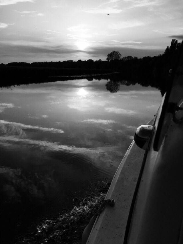 Black n white sun setting .....St Ives