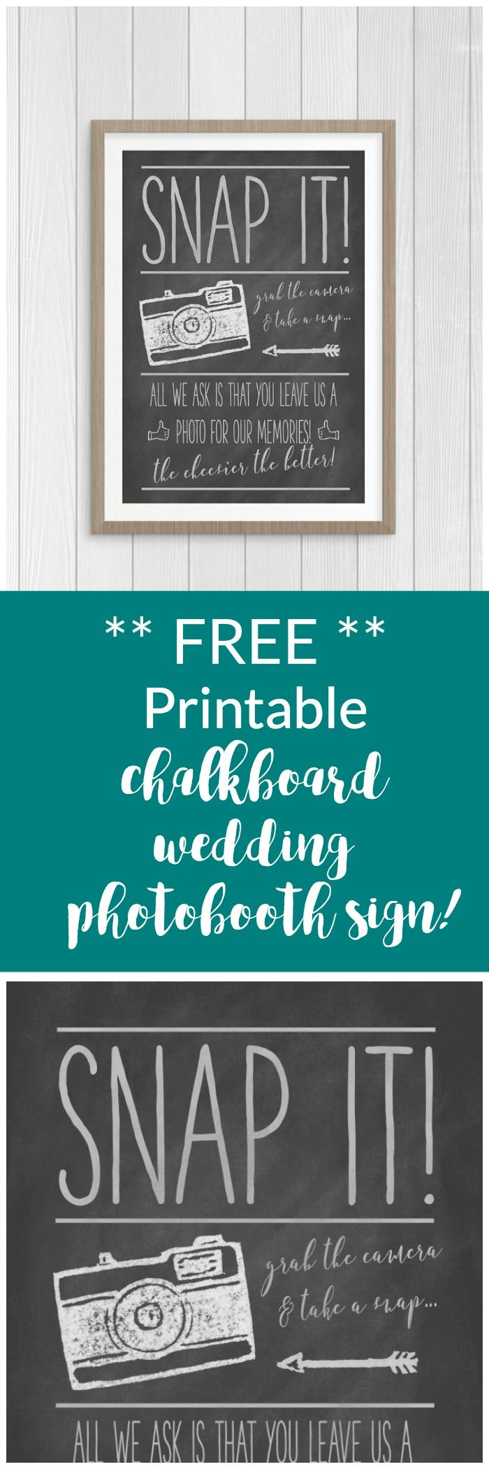 Free Chalkboard Wedding Photo Guest Book Sign