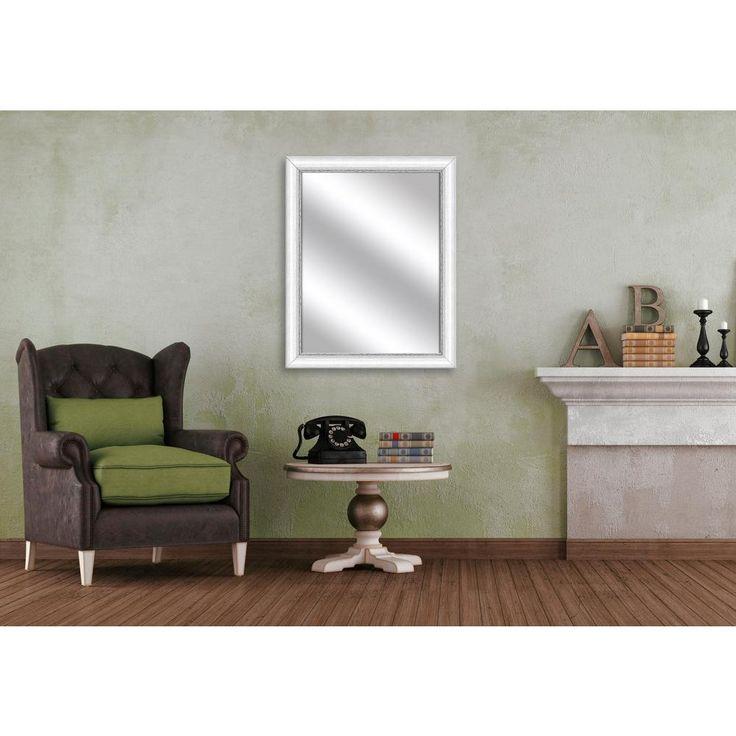 30.75 in. x 24.75 in. White Framed Mirror