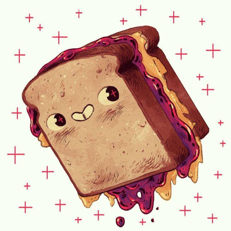 Peanut butter & jelly sandwich ~ Kyle Fewell