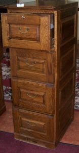 Solid Wood Filing Cabinet 4 Drawer