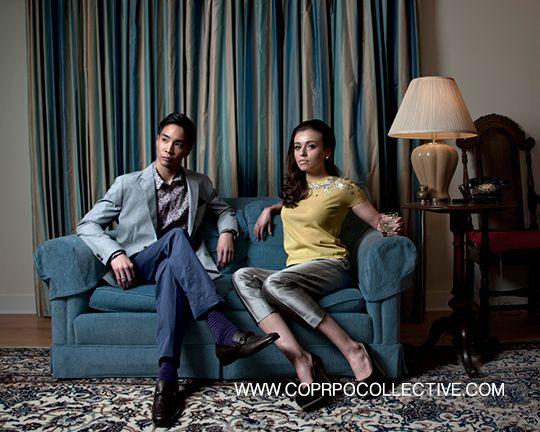 www.corpocollective.com... HIM - blazer, HUGO BOSS; floral shirt, blue chino's & socks, PAUL SMITH; shoe, FERRAGAMO; belt, PRADA; watch, LINKS OF LONDON HER: pant, ARMANI COLLECZIONI;  sweater t, TORY BURCH; 'effervescence'  watch & bracelet, LINKS OF LONDON; earrings, HOLT RENFREW; 'maniac' pump; BRIAN ATWOOD MODELS: Victoria Kotas & Brandon Ng STYLIST: Asha Binti Kingombe (clothing courtesy Holt Renfrew) PHOTOGRAPHY: Zac Pantalone HAIR: Dana Stefanelli MAKE-UP: Andreé Beaudoin