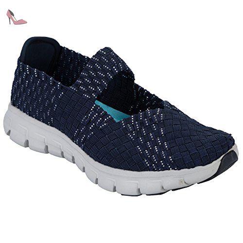 skechers synergy good vibes femmes us bleu chaussure de marche chaussures skechers