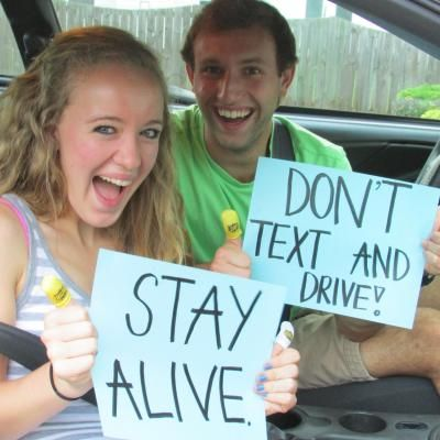 Keep those thumbs under control, y'all. GO TO dosomething.org to become apart of the no texting while driving campaign