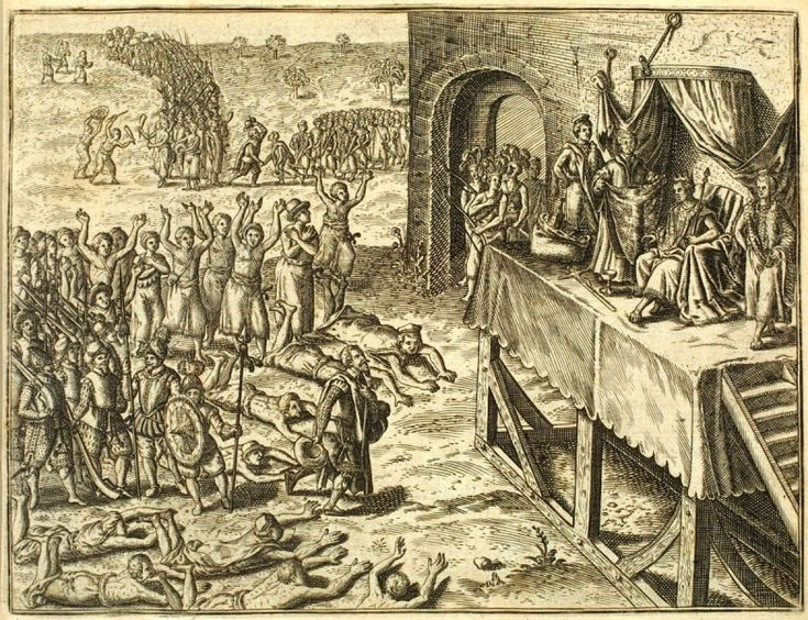 Portuguese emissaries received by the King of Kongo, late 16th century