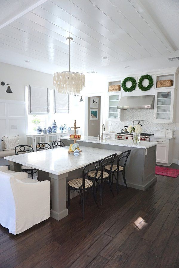 These T Shaped Kitchen Island Ideas Are Surprisingly Convenient Hunker T Sh In 2020 Functional Kitchen Island Modern Kitchen Island Kitchen Island And Table Combo