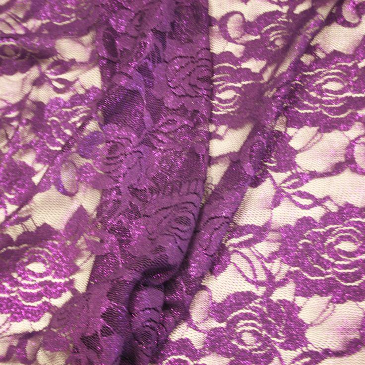 Sachet Metallic Stretch Lace   Shine Trimmings & Fabrics