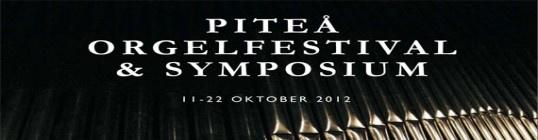 Orgelfestival, invigning och symposium 2012. Instrumentet invigdes i oktober 2012 och Upplevelseproducenter från UPAF var värdar vid flera olika konserter och festligheter under festivaldagarna.