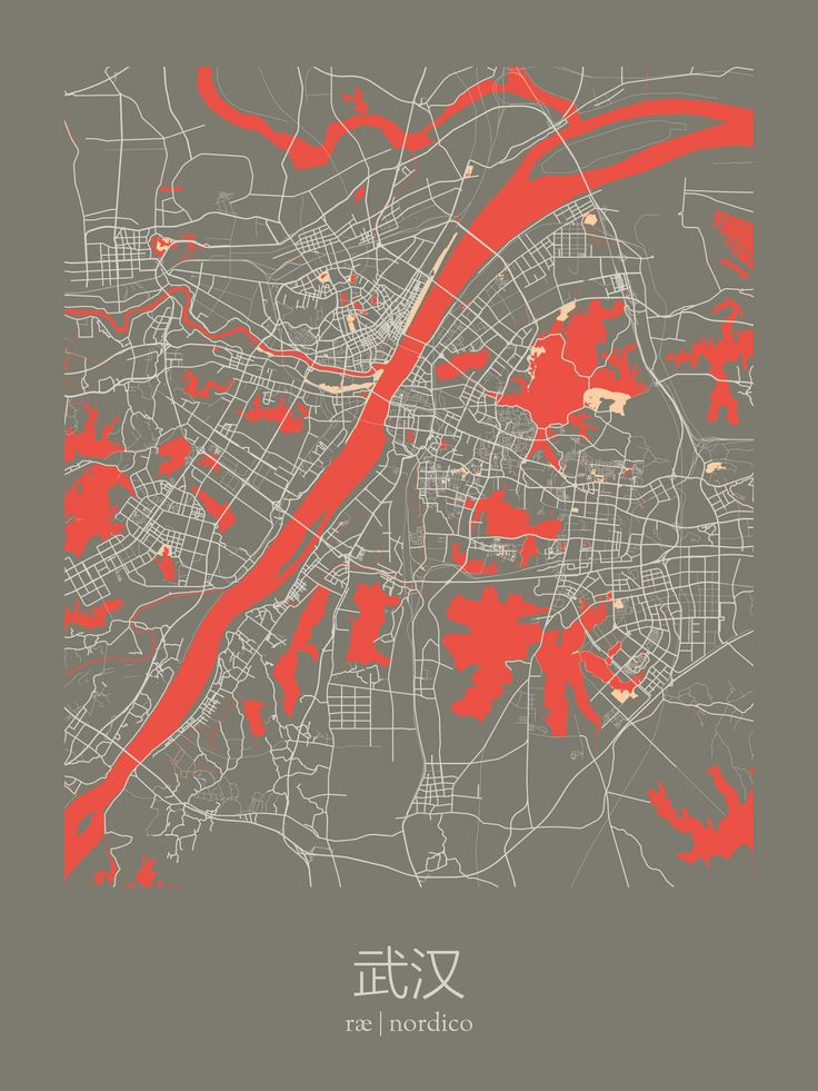 Wuhan China Map Print 250 best maps