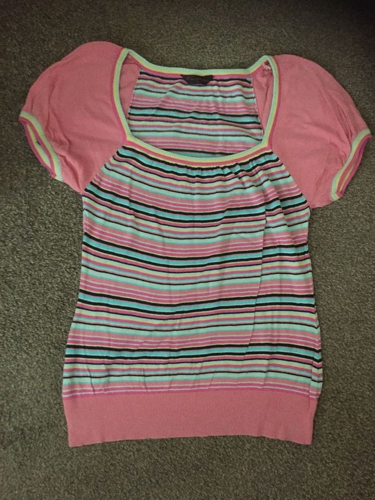 Ladies Pink Multi Coloured Top, Size 12 From Miss Selfridge #MissSelfridge