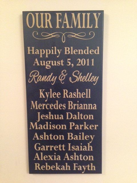 Charming Personalized Blended Family Sign Perfect For By AgainstTheGrainLLC