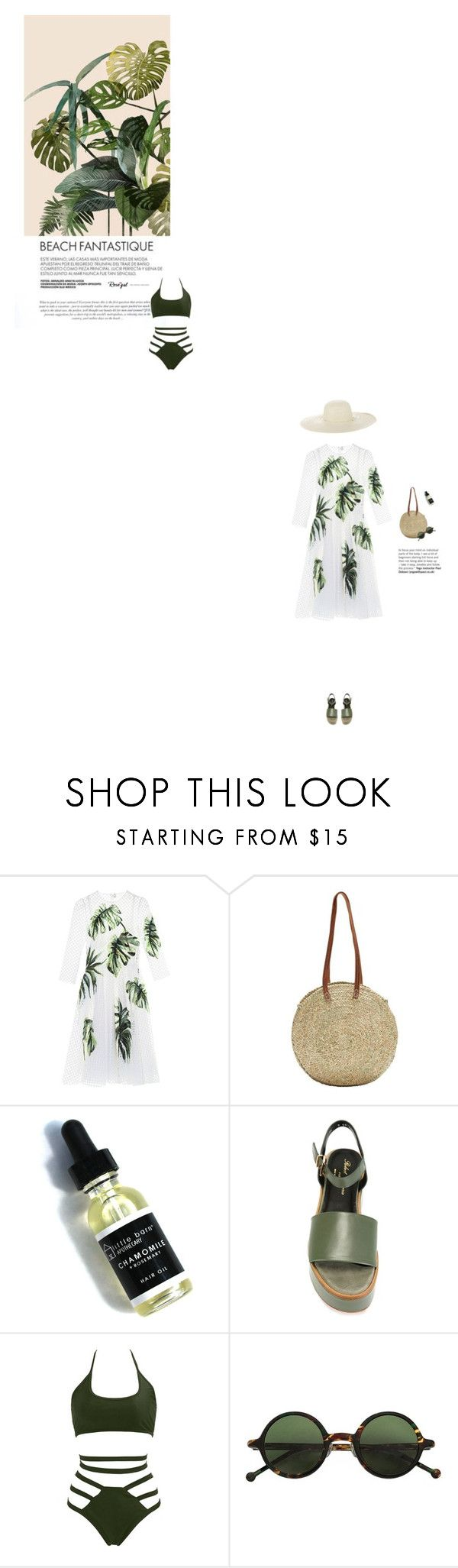 """""""Verde Sol"""" by butterflykisses89 ❤ liked on Polyvore featuring Dolce&Gabbana, Indigo&Lavender, Robert Clergerie, Hakusan and Jennifer Ouellette"""