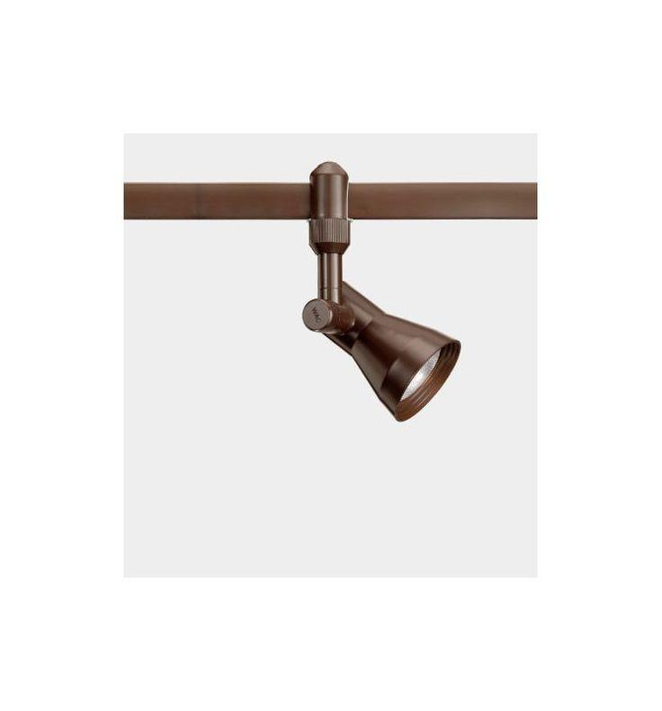 wac lighting hm720 1 light adjustable flexrail2 track head with locking knob bronze indoor