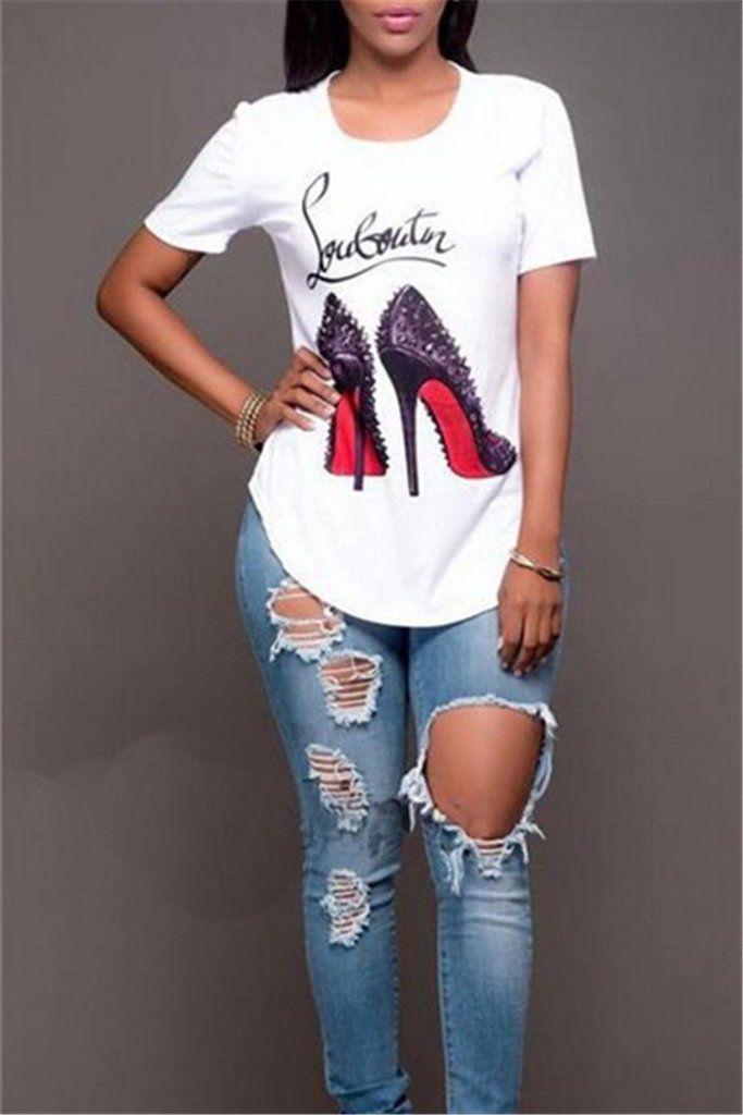 d5b21414b33 Killer Heels T-Shirt in 2019 | Top | T shirt, Womens_fashion, Shirts