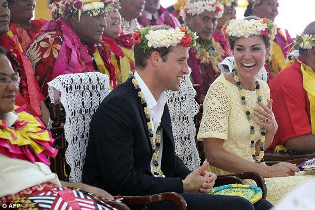 Duke and Duchess were again in good spirits after arriving in Tuvalu today. September 18, 2012