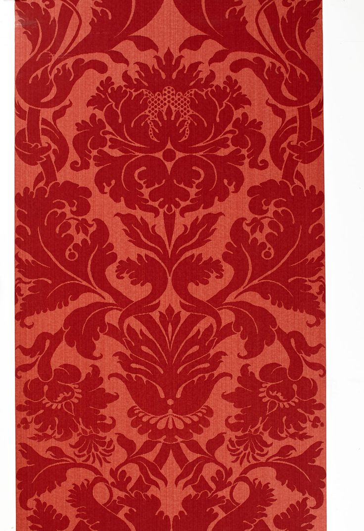 Wallcovering / Wallpaper | Fiorella Damask in Red ...