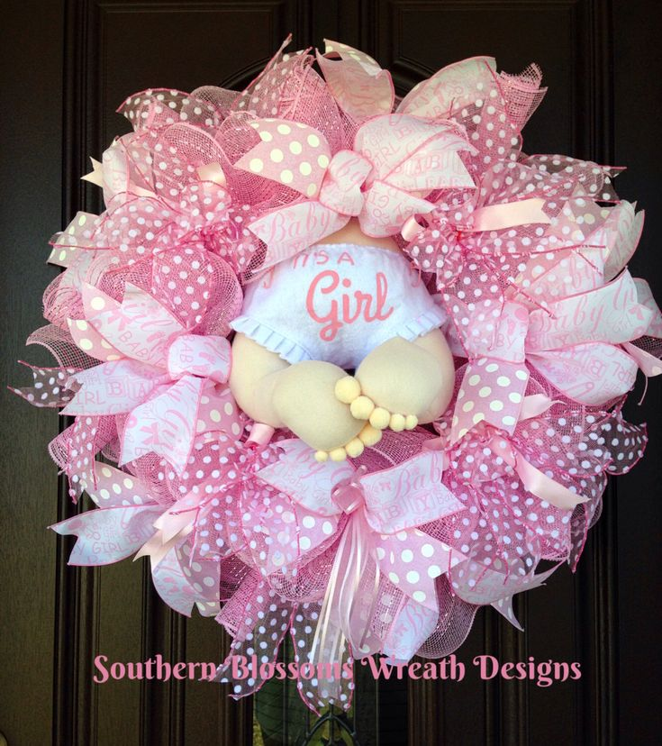 A personal favorite from my Etsy shop https://www.etsy.com/listing/501647295/baby-butt-wreath-baby-girl-wreath