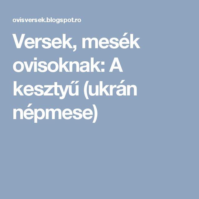 Versek, mesék ovisoknak: A kesztyű (ukrán népmese)